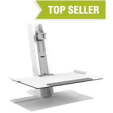 Humanscale QuickStand Single Monitor with Freestanding Base - Stretch Desks - Height Adjustable Standing Desk