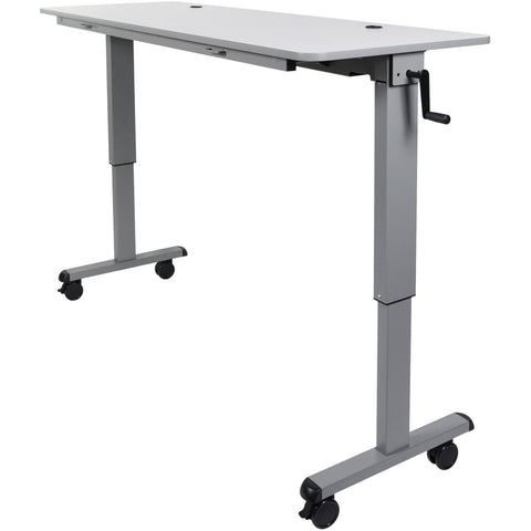 "Luxor 60"" Adjustable Flip Top Table with Crank Handle - Stretch Desks - Height Adjustable Standing Desk"