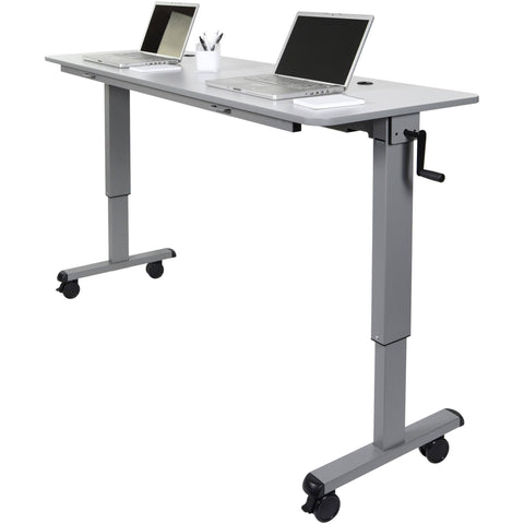 "Luxor 72"" Adjustable Flip Top Table with Crank Handle - Stretch Desks - Height Adjustable Standing Desk"