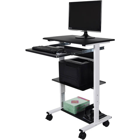 Luxor Three-shelf Adjustable Stand Up Workstation - Stretch Desks - Height Adjustable Standing Desk