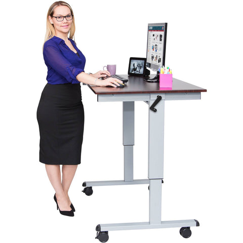 "Luxor 48"" Crank Adjustable Stand Up Desk - Stretch Desks - Height Adjustable Standing Desk"