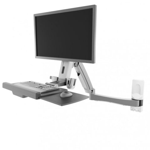 Atdec A-STSWW Wall Mounted Sit-to-Stand Workstation - Stretch Desks - Height Adjustable Standing Desk