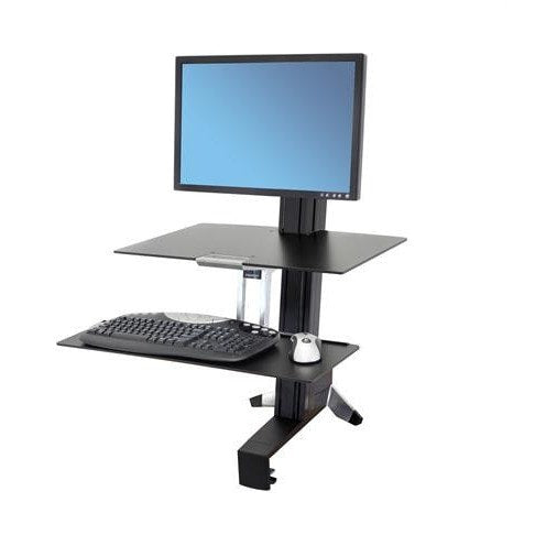 Ergotron WorkFit-S, Single Monitor with Worksurface - Stretch Desks - Height Adjustable Standing Desk
