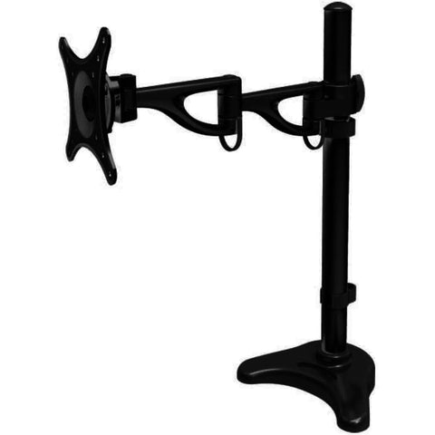 Rocelco Double Articulated Height Adjustable Desk Mount - Stretch Desks - Height Adjustable Standing Desk