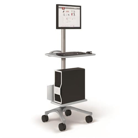 Ergotron Zido® Computer Cart Package - Stretch Desks - Height Adjustable Standing Desk
