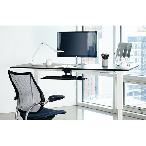 "Humanscale Float Standing Desk - 48""-54"" - Stretch Desks - Height Adjustable Standing Desk"