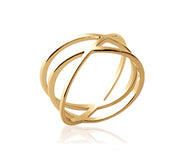 Criss Cross Orbit Ring - Artizen Jewelry