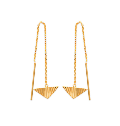 Triangle Threader Earrings - Artizen Jewelry