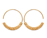 Hammered Open Circle Earrings - Artizen Jewelry