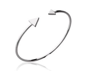 Double Arrow Silver Bracelet - Artizen Jewelry