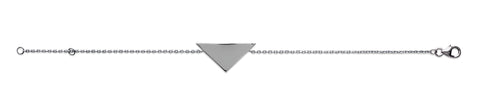Solid Triangle Silver Bracelet - Artizen Jewelry