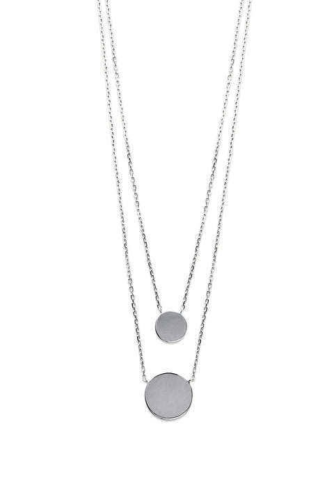 Disc Silver Necklace - Artizen Jewelry