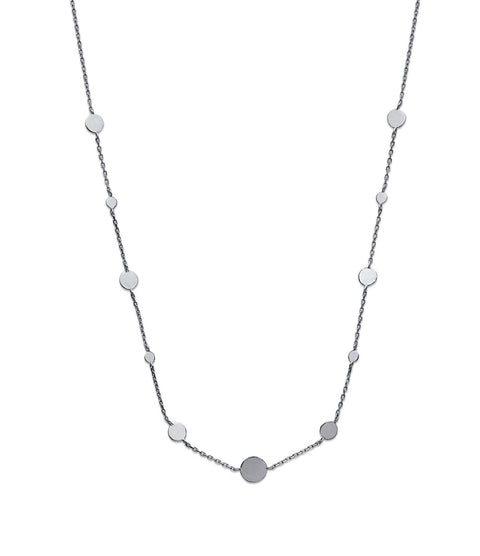 Station Silver Necklace - Artizen Jewelry