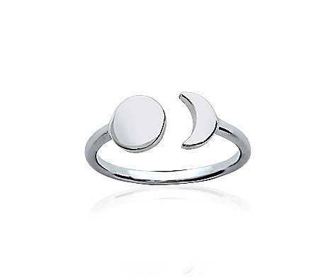 Moon Eclipse Silver Ring - Artizen Jewelry