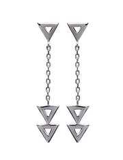 Triangles Silver Earrings - Artizen Jewelry