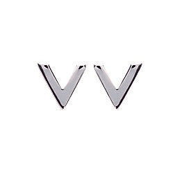 """V"" Silver Earrings - Artizen Jewelry"