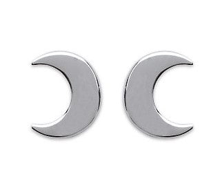 Half Moon Silver Earrings - Artizen Jewelry