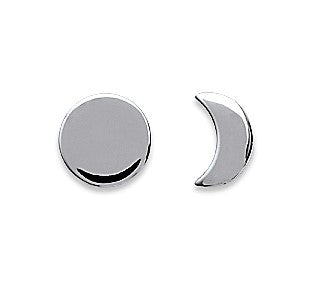 Moon Eclipse Silver Earrings - Artizen Jewelry