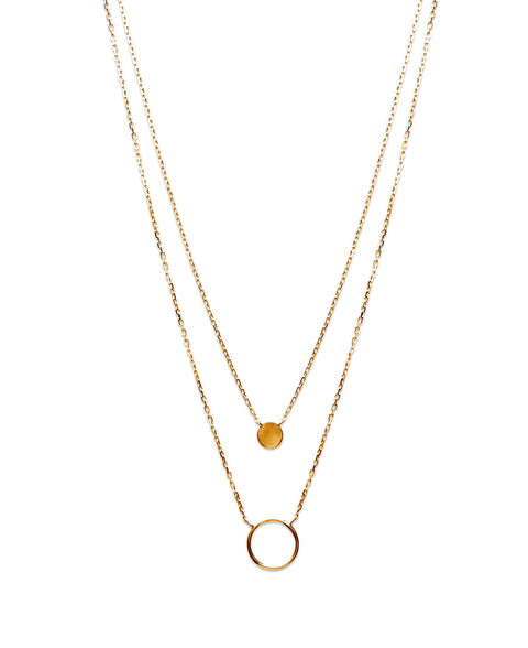 Circle & Disc Necklace - Artizen Jewelry