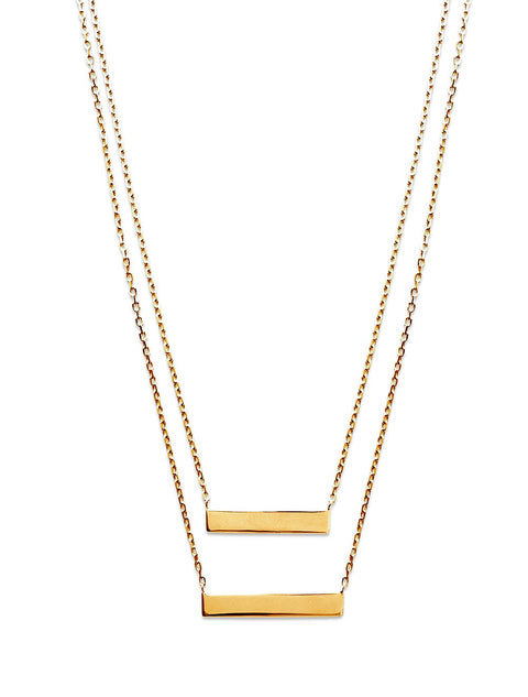 Double Bar Necklace - Artizen Jewelry