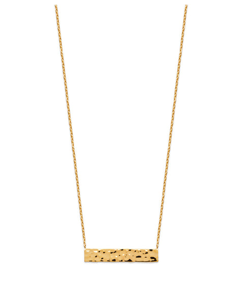 Hammered Bar Necklace - Artizen Jewelry