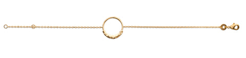Hammered Open Circle Bracelet - Artizen Jewelry