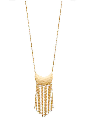 Half Moon Fringe Necklace - Artizen Jewelry
