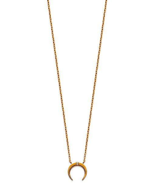 Horn Gold Plated Necklace - Artizen Jewelry