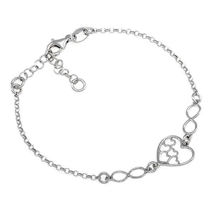 Heart Silver Bracelet - Artizen Jewelry