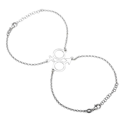 Him & Her Silver Bracelet - Artizen Jewelry