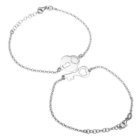 Lock & Key Silver Bracelet - Artizen Jewelry