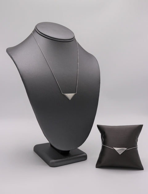Solid Triangle Silver Necklace - Artizen Jewelry