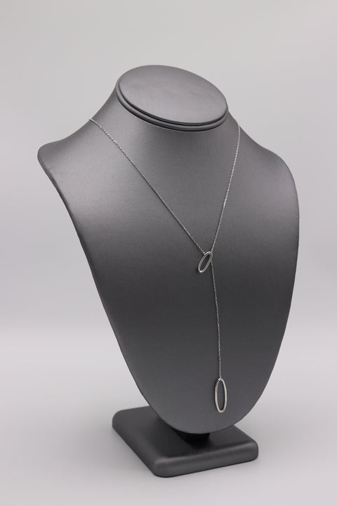Open Oval Lariat Necklace - Artizen Jewelry
