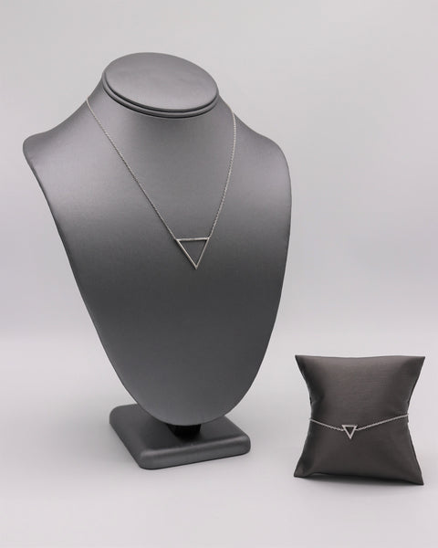 Open Triangle Silver Necklace - Artizen Jewelry