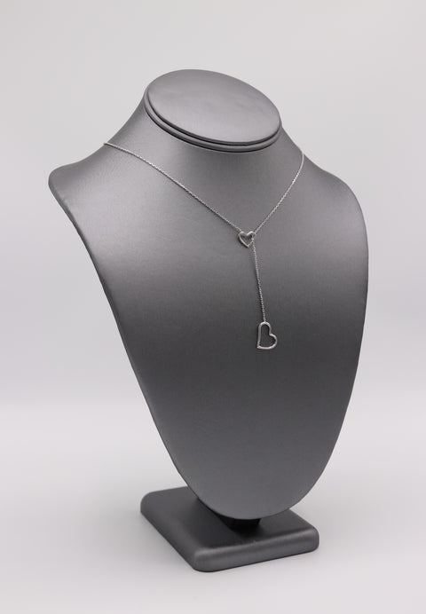 Heart Lariat Heart Necklace - Artizen Jewelry