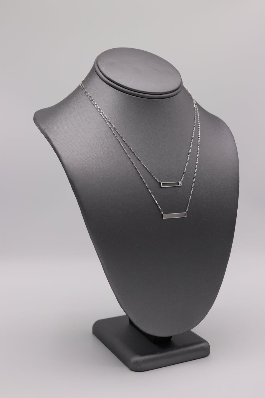 Double Bar Silver Necklace - Artizen Jewelry