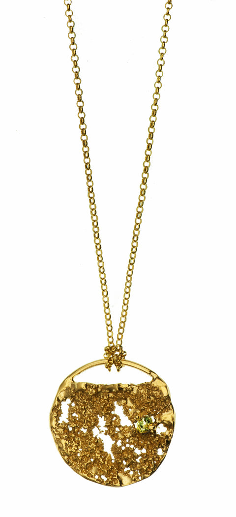 Gold Plated Necklace with Diamond | MG2541 - Artizen Jewelry