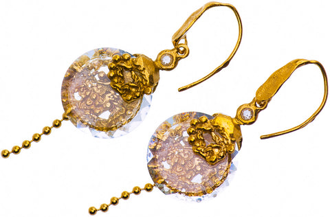 Gold Plated Earrings | MG4536 - Artizen Jewelry