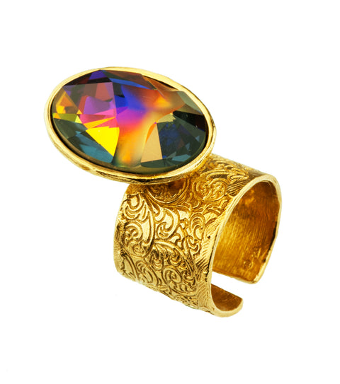Gold Plated Ring | MG5244 - Artizen Jewelry