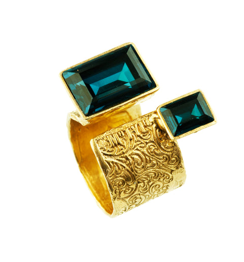 Gold Plated Ring | MG5247 - Artizen Jewelry