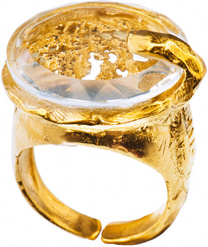 Gold Plated Ring | MG5534 - Artizen Jewelry