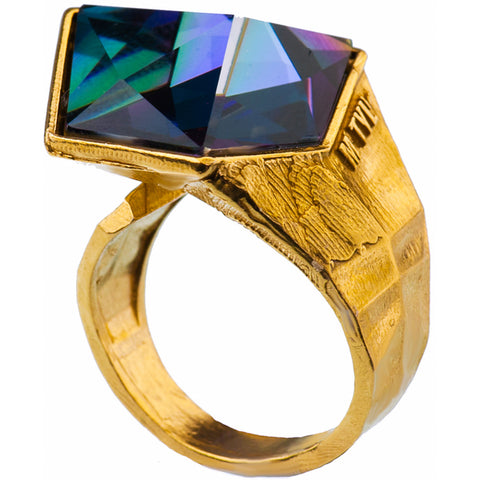 Gold Plated Ring | MG5544 - Artizen Jewelry
