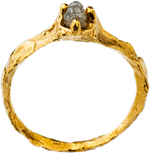 Gold Plated Ring with Diamond | MGB5540 - Artizen Jewelry