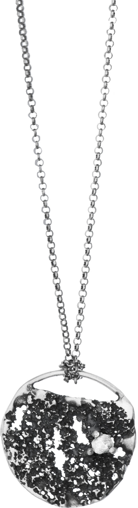 Silver Necklace with Diamond | MS2541 - Artizen Jewelry