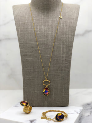 Gold Plated Necklace | MG2244 - Artizen Jewelry