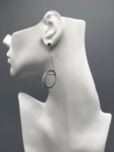 Geometric Silver Earrings - Artizen Jewelry