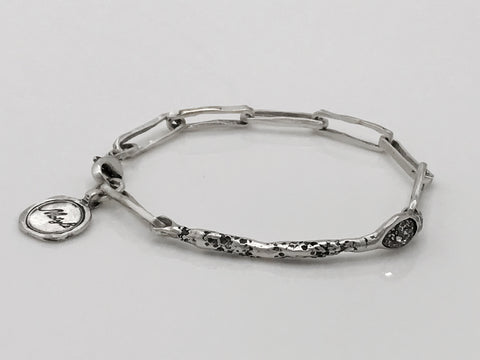 Silver Bracelet with Swarovski Crystal - Artizen Jewelry