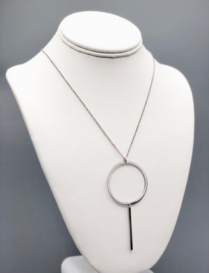 Circle Bar Silver Necklace - Artizen Jewelry