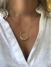 Hammered Open Circle Necklace - Artizen Jewelry