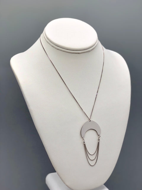 Half Moon Silver Necklace - Artizen Jewelry